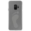 CRYSGALAXYS9PIED - Coque rigide transparente pour Samsung Galaxy S9 avec impression Motifs empreinte de pied