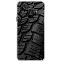 CRYSGALAXYS9PNEU - Coque rigide transparente pour Samsung Galaxy S9 avec impression Motifs pneu