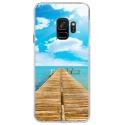 CRYSGALAXYS9PONTON - Coque rigide transparente pour Samsung Galaxy S9 avec impression Motifs ponton sur la mer
