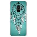 CRYSGALAXYS9REVEBLEU - Coque rigide transparente pour Samsung Galaxy S9 avec impression Motifs attrape rêve sur fond bleu