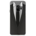 CRYSGALAXYS9SMOKING - Coque rigide transparente pour Samsung Galaxy S9 avec impression Motifs smoking