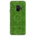 CRYSGALAXYS9TERRAINFOOT - Coque rigide transparente pour Samsung Galaxy S9 avec impression Motifs terrain de football