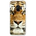 CRYSGALAXYS9TIGRE - Coque rigide transparente pour Samsung Galaxy S9 avec impression Motifs tête de tigre