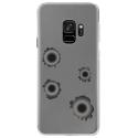 CRYSGALAXYS9TROUBALLE - Coque rigide transparente pour Samsung Galaxy S9 avec impression Motifs impacts de balles
