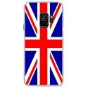 CRYSGALAXYS9UNIONJACK - Coque rigide transparente pour Samsung Galaxy S9 avec impression Motifs Union Jack