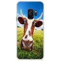 CRYSGALAXYS9VACHE - Coque rigide transparente pour Samsung Galaxy S9 avec impression Motifs vache