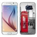 CRYSGALS6CABINEUK - Coque rigide transparente pour Galaxy S6 impression motif cabine téléphonique UK rouge