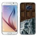 CRYSGALS6CHOCOLAT - Coque rigide transparente pour Galaxy S6 impression motif tablette de chocolat