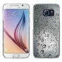 CRYSGALS6GOUTTEEAU - Coque rigide transparente pour Galaxy S6 impression motif gouttes d'eau