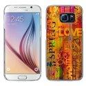 CRYSGALS6LOVESPRING - Coque rigide transparente pour Galaxy S6 impression motif Love Spring