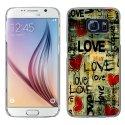 CRYSGALS6LOVEVINTAGE - Coque rigide transparente pour Galaxy S6 impression motif Love Vintage