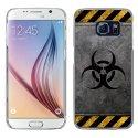 CRYSGALS6RADIOACTIF - Coque rigide transparente pour Galaxy S6 impression motif radioactif