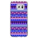 CRYSGALS7EDGEAZTEQUEBLEUVIO - Coque rigide transparente pour Samsung Galaxy S7-Edge avec impression Motifs aztèque bleu et violet