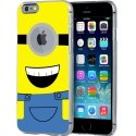 CRYSIP655MINION1OEIL - Coque rigide transparente iPhone 6 Plus impression motif d'un mignon personnage