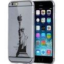 CRYSIP6STATUELIB - Coque crystal avec motif Statue de la Liberté pour iPhone 6