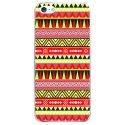 CRYSIPHONE5AZTEQUEJAUROU - Coque rigide pour Apple iPhone 5 avec impression Motifs aztèque jaune et rouge