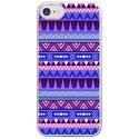 CRYSIPHONE7AZTEQUEBLEUVIO - Coque rigide transparente pour Apple iPhone 7 avec impression Motifs aztèque bleu et violet