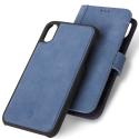 DECODED-D8IPO65DW1LB - Etui Decoded Premium Cuirdétachable 2 en 1 iPhone XS Max coloris bleu mat