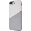 DECODED-DA6IPO7PLSO1WEGY - Coque Decoded Premium Cuir iPhone 7+/8+ coloris gris et beige mat