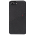 DECODED-DA8IPO8PLSO1BK - Coque Decoded Premium Cuir iPhone 7+/8+ coloris noir mat