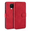 DGMING-REDNOTE9SROUGE - Etui Redmi NOTE 9s / 9 Pro haut de gamme rouge logements carte fonction stand