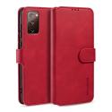 DGMING-S20FEROUGE - Etui Galaxy S20-FE haut de gamme rouge logements carte fonction stand