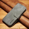 DGMING-S7GRIS - Etui Galaxy S7 haut de gamme gris logements carte fonction stand