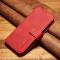 DGMING-S7ROUGE - Etui Galaxy S7 haut de gamme rouge logements carte fonction stand