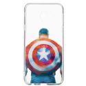 DISNEY-J415CAPTAIN - Coque souple Galaxy J4+ Captain America collection officielle Disney-Marvel