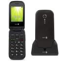 DORO-2404 - Téléphone sénior à clapet Doro 2404 avec socle de chargement