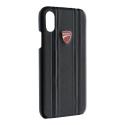 DU-BCIPX-MS - Coque Ducati Monster iPhone X/Xs cuir noir