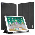 DUX-DOMOIPA18NOIR - Etui iPad 2018 noir avec coque intérieure souple et emplacement stylet