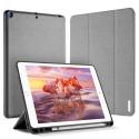 DUX-DOMOIPADPRO105GRIS - Etui iPad Pro 10.5 gris foncé avec coque intérieure souple et emplacement stylet