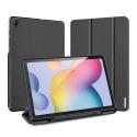 DUX-DOMOTABS6LITE - Etui Galaxy Tab S6 Lite noir avec coque rigide et rabat articulé