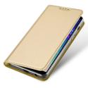 DUX-FOLIOA6PLUSGOLD - Etui Galaxy A6 Plus gold fin avec rabat latéral aimant invisible et coque souple
