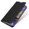 DUX-FOLIOA71NOIR - Etui Galaxy A71 noir fin avec rabat latéral aimant invisible et coque souple