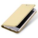 DUX-FOLIOHONOR6AGOLD - Etui Honor-6A gold fin avec rabat latéral aimant invisible et coque souple