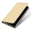 DUX-FOLIOHONOR7XGOLD - Etui Honor-7X gold fin avec rabat latéral aimant invisible et coque souple