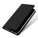 DUX-FOLIOIP11PMAXNOIR - Etui iPhone 11 Pro Max noir avec rabat latéral aimant invisible et coque souple