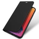 DUX-FOLIOIP12PMAXGREY - Etui iPhone 12 Pro Max avec rabat latéral aimant invisible et coque souple