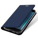 DUX-FOLIOJ42018BLEU - Etui Galaxy J4-2018 bleu fin avec rabat latéral aimant invisible et coque souple
