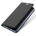 DUX-FOLIOMI11 - Etui Xiaomi Mi-11 gris fin avec rabat latéral aimant invisible et coque souple