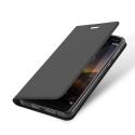DUX-FOLIONOKIA61GRIS - Etui Nokia 6.1 noir fin avec rabat latéral aimant invisible et coque souple
