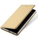 DUX-FOLIONOKIA8GOLD - Etui Nokia-8 gold fin avec rabat latéral aimant invisible et coque souple