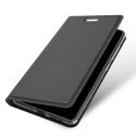 DUX-FOLIONOKIA9GRIS - Etui Nokia-9 noir fin avec rabat latéral aimant invisible et coque souple