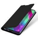 DUX-FOLIONOTE10LITE - Etui Galaxy Note 10 Lite noir fin avec rabat latéral aimant invisible et coque souple
