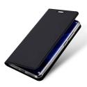 DUX-FOLIOP40LITE - Etui Huawei P40 Lite noir fin avec rabat latéral aimant invisible et coque souple
