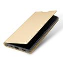 DUX-FOLIOXA2GOLD - Etui Xperia-XA2 gold fin avec rabat latéral aimant invisible et coque souple