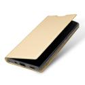 DUX-FOLIOXA2ULTRAGOLD - Etui Xperia-XA2 ULTRA gold fin avec rabat latéral aimant invisible et coque souple