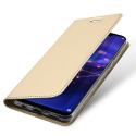 DUX-MATE20LITEGOLD - Etui Huawei Mate-20 Lite gold fin avec rabat latéral aimant invisible et coque souple